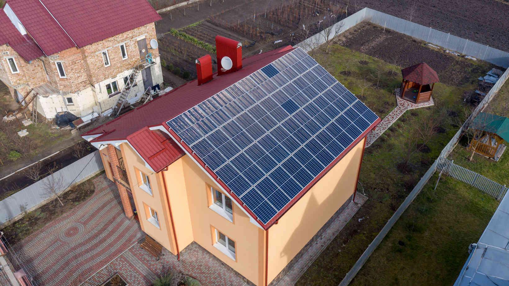 Мережева сонячна електростанція (СЕС) потужністю 14,08 кВт – Фотозвіт #1