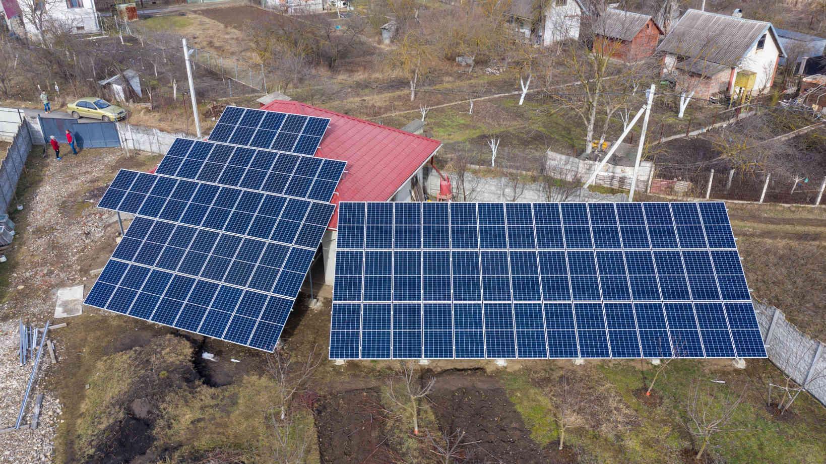 Мережева сонячна електростанція (СЕС) потужністю 34,425 кВт – Фотозвіт #1
