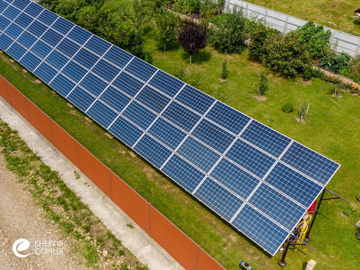 Мережева сонячна електростанція (СЕС) потужністю 21,6 кВт – Фотозвіт #4