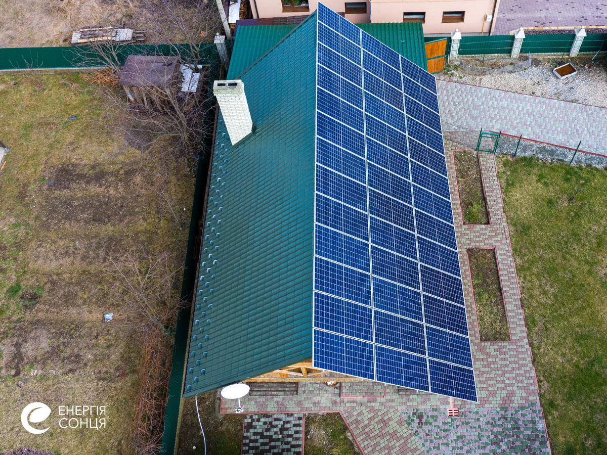 Мережева сонячна електростанція (СЕС) потужністю 15,6 кВт – Фотозвіт #3