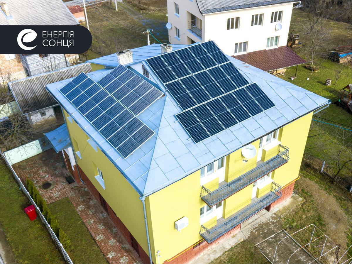 Мережева сонячна електростанція (СЕС) потужністю 11,55 кВт – Фотозвіт #1