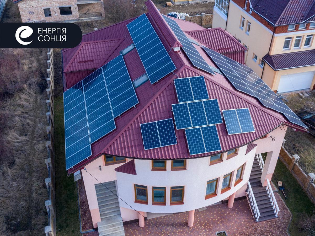 Мережева сонячна електростанція (СЕС) потужністю 27,7 кВт – Фотозвіт #1
