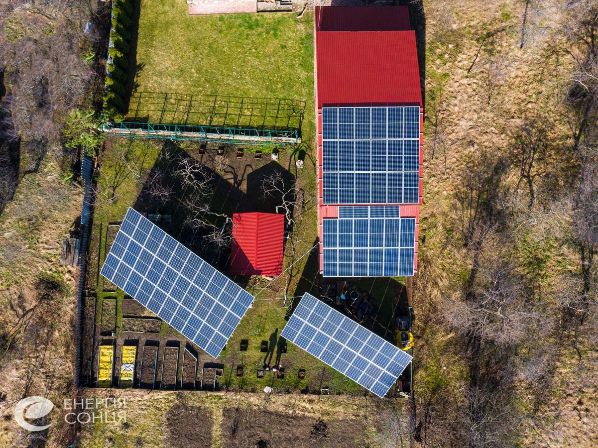 Мережева сонячна електростанція (СЕС) потужністю 33,15 кВт – Фотозвіт #2