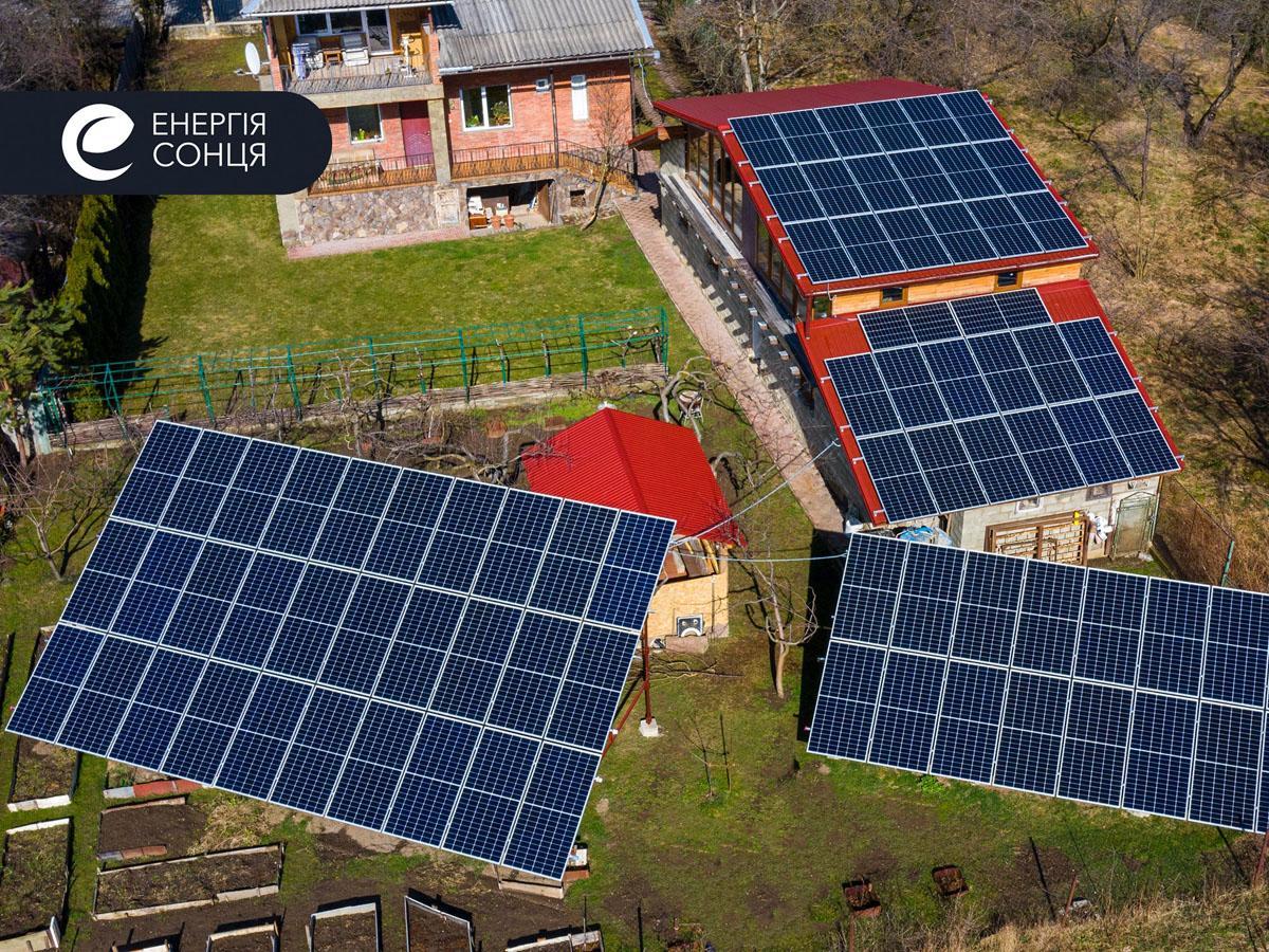 Мережева сонячна електростанція (СЕС) потужністю 33,15 кВт – Фотозвіт #1