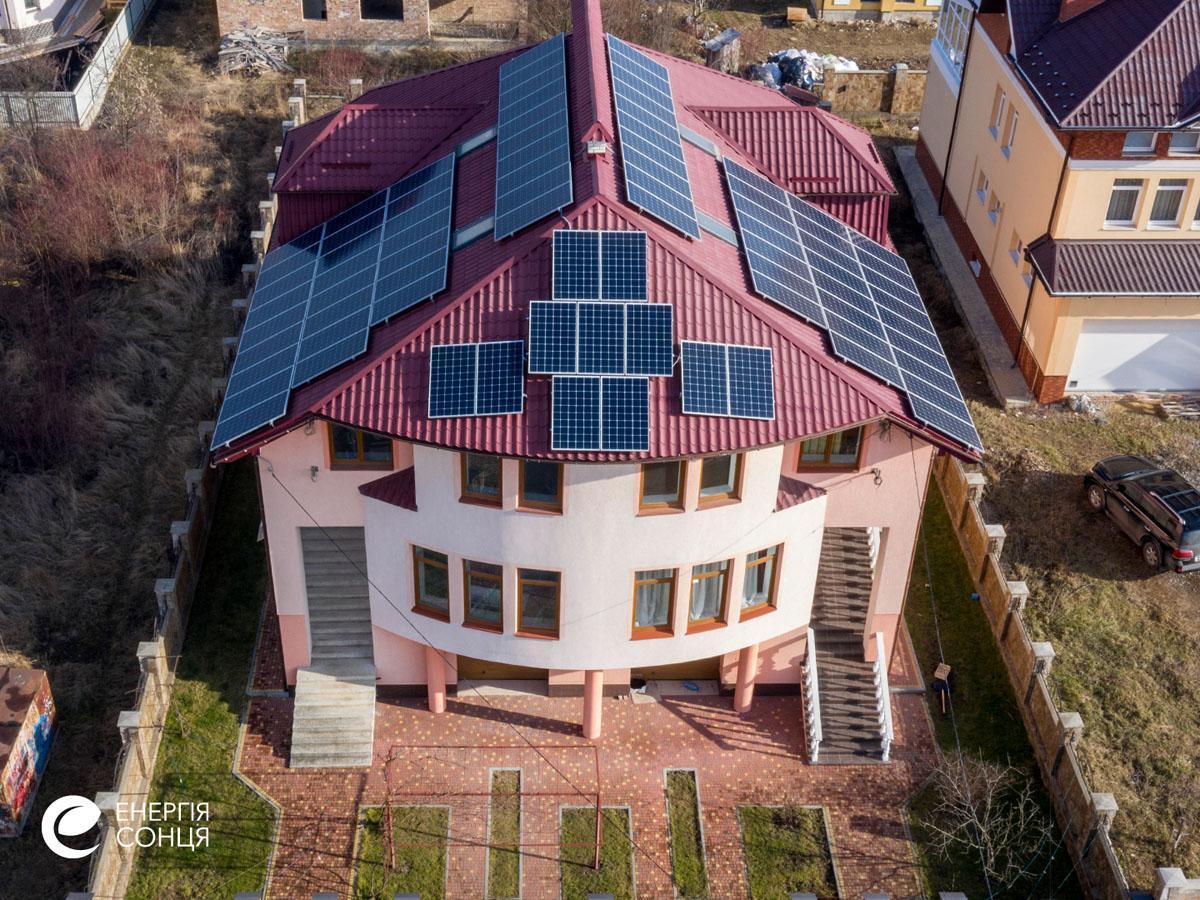 Мережева сонячна електростанція (СЕС) потужністю 27,7 кВт – Фотозвіт #2