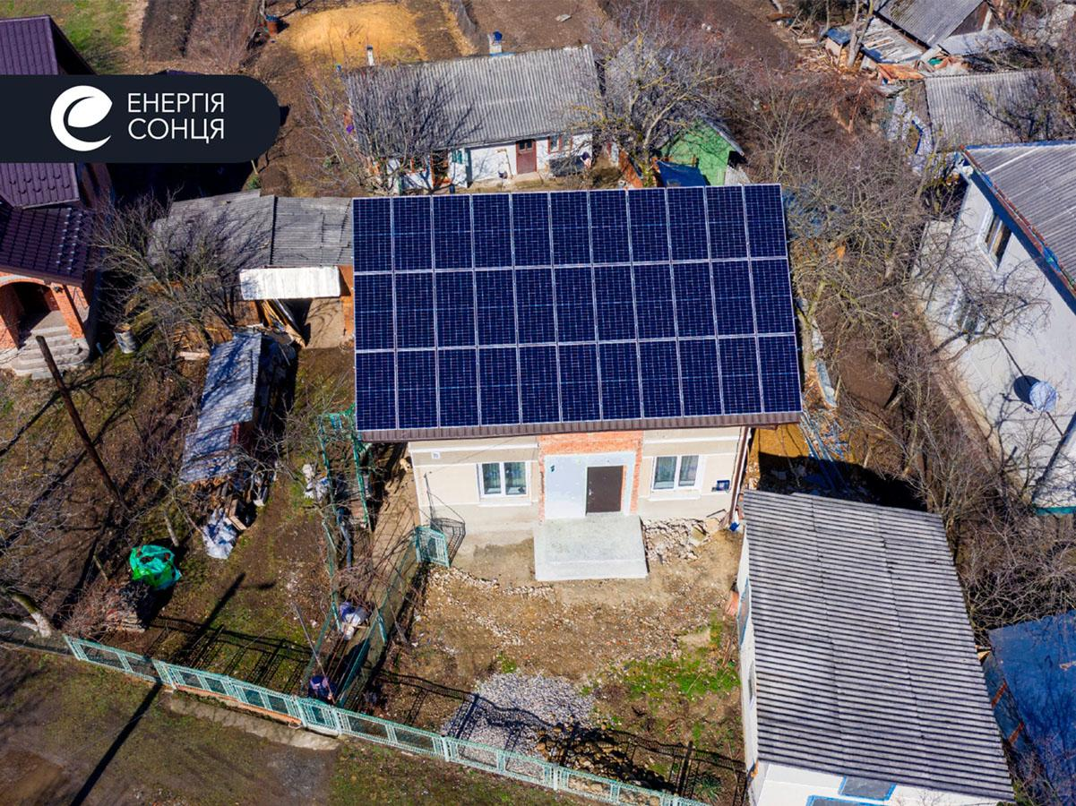 Мережева сонячна електростанція (СЕС) потужністю 12,54 кВт – Фотозвіт #1