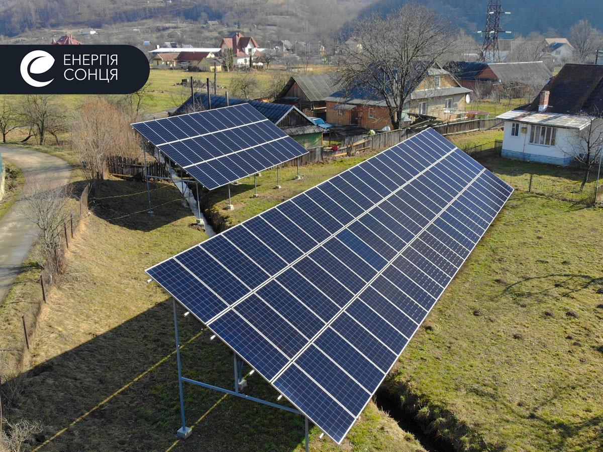 Мережева сонячна електростанція (СЕС) потужністю 36,18 кВт – Фотозвіт #1