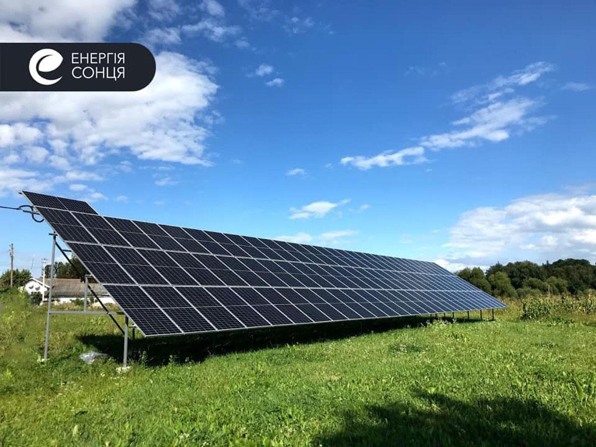 Мережева сонячна електростанція (СЕС) потужністю 36,08 кВт – Фотозвіт #1