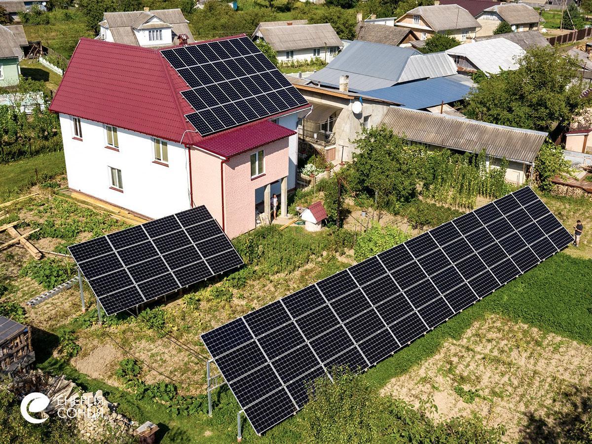 Мережева сонячна електростанція (СЕС) потужністю 32,23 кВт – Фотозвіт #2
