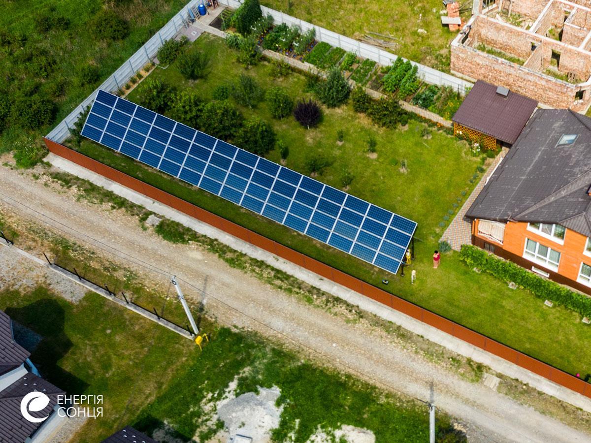 Мережева сонячна електростанція (СЕС) потужністю 21,6 кВт – Фотозвіт #2