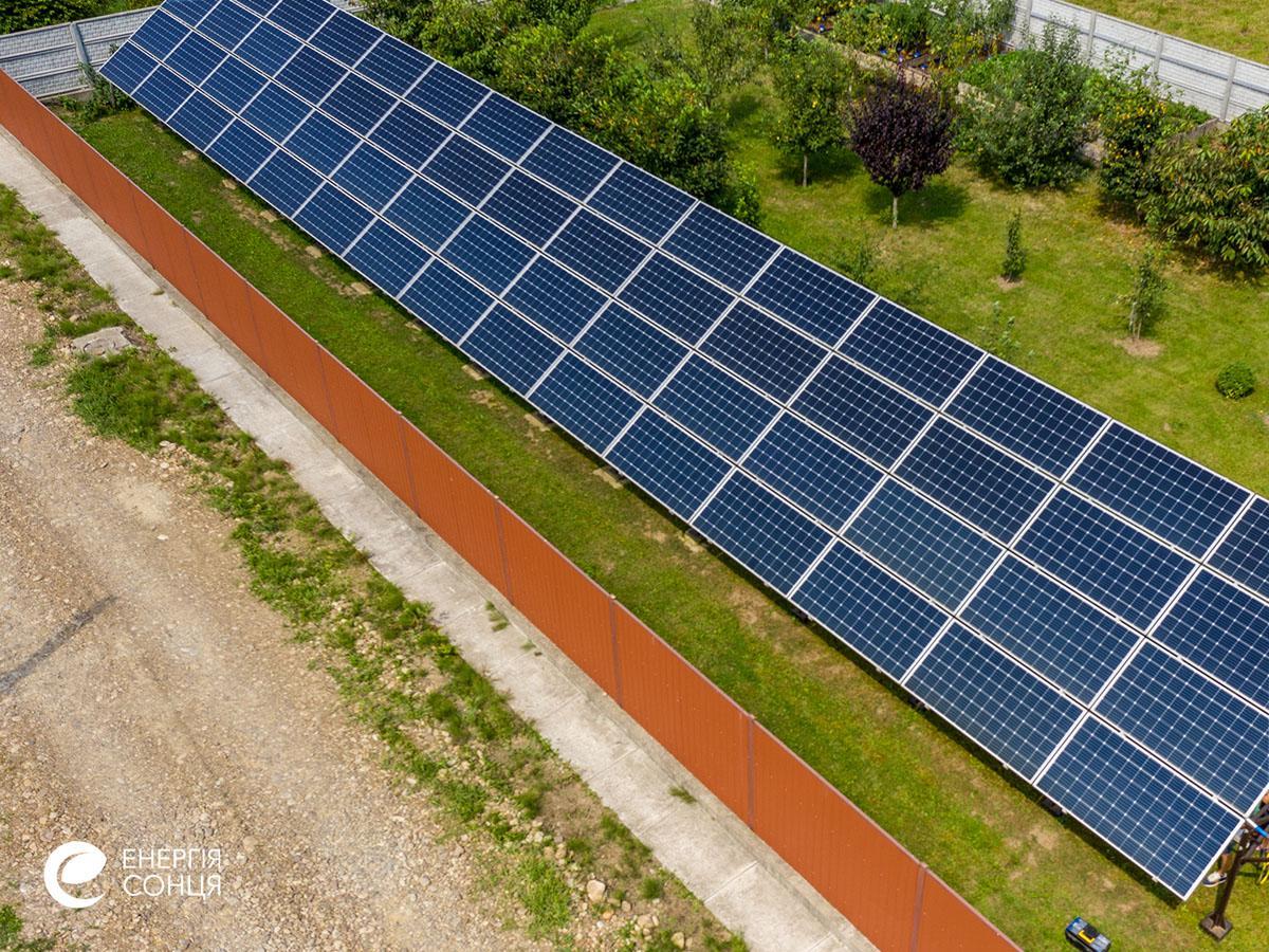 Мережева сонячна електростанція (СЕС) потужністю 21,6 кВт – Фотозвіт #3