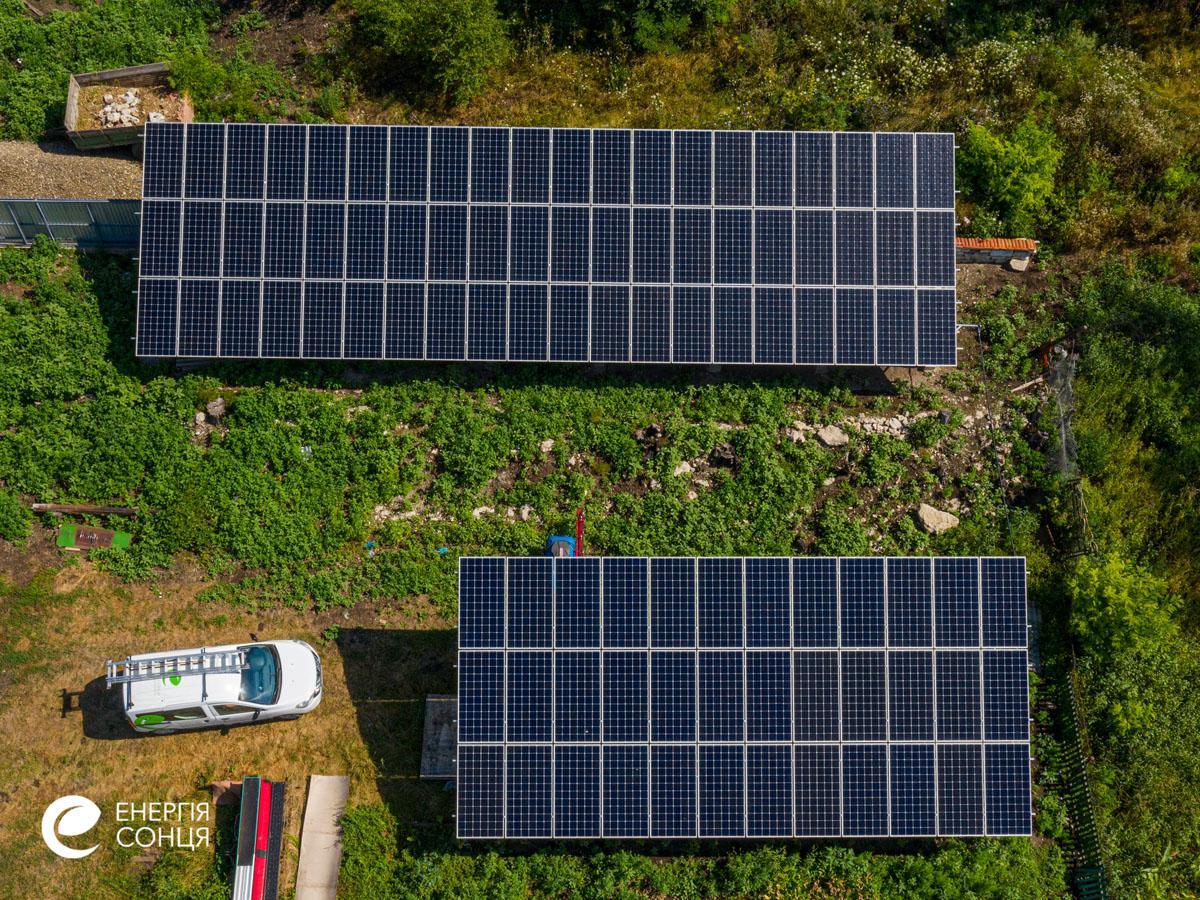 Мережева сонячна електростанція (СЕС) потужністю 35,04 кВт – Фотозвіт #2