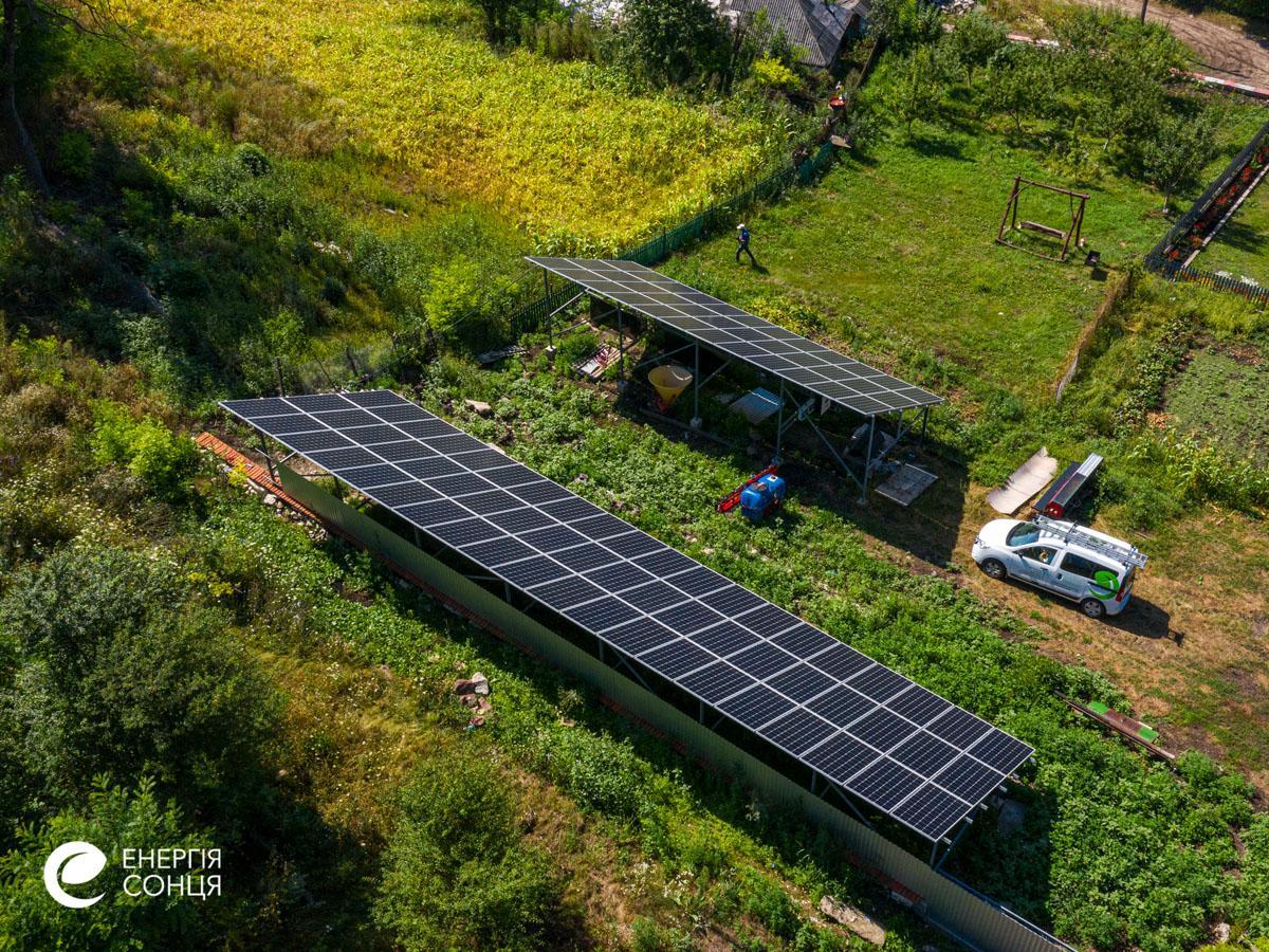 Мережева сонячна електростанція (СЕС) потужністю 35,04 кВт – Фотозвіт #3