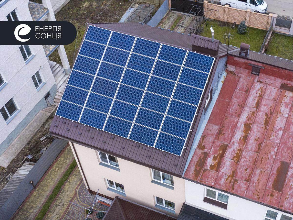 Мережева сонячна електростанція (СЕС) потужністю 7,8 кВт – Фотозвіт #1