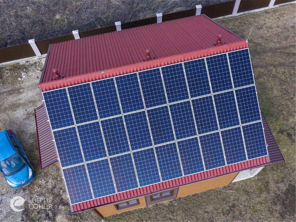 Мережева сонячна електростанція (СЕС) потужністю 8,23 кВт – Фотозвіт #2