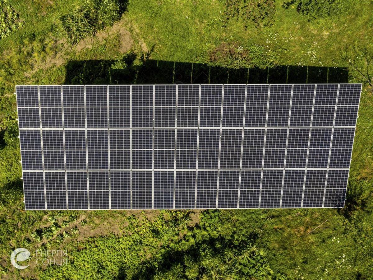 Мережева сонячна електростанція (СЕС) потужністю 18,225 кВт – Фотозвіт #3